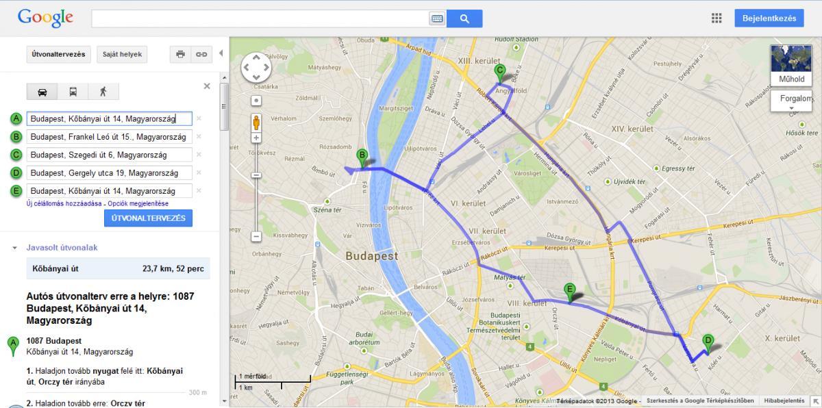 google térkép útvonaltervező Több úticél megadása a Google Maps en | Geeks.hu